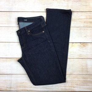 J CREW Matchstick mid rise straight dark jeans 29